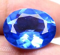 AAA Brazilian 14.80 Ct Natural London Blue Topaz Loose Gemstone Certified F0256