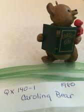 "1980 Hallmark Ornament ""Caroling Bear "" (No Box)"