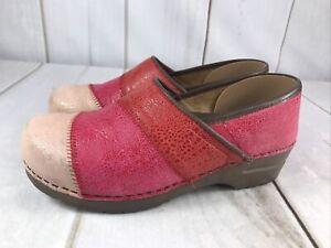 Sanita Womens Multicolor Clogs Original Danish Leather Shoes Size EU 40 US 10