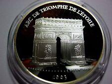 1993 France Large Silver Proof  100 Fr/15 Ecu Arc De Triumph