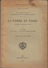 La Pomme de Terre, Caractères, Variétés, Culture Agriculture Cuisine, Diehl 1938