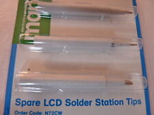 PACK OF 3 LCD & LED 48W SOLDER STATION TIPS MAPLIN