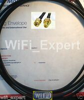 TIMES® 10' LMR-195 Coax WiFi Extension Cable RP-SMA Male to RPSMA Female USA