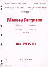 ▬► Catalogue Pieces Rechange Parts Book Tracteur MASSEY FERGUSON MF 158 MK II