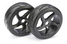 Absima 1/8 Buggy Street Wheels with Tyres Black 2pcs 2530001