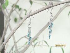 """Turquoise Resistor Earrings, 2"""" Length, 1/4 Watt, 10 Meg Ohm, Handmade"""