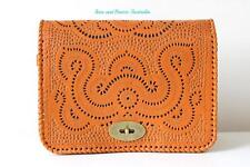 Ethnic boho leather hand tooled handmade purse clutch sling massager women bags