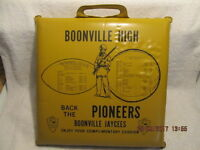 Seat Cushion Boonville High School IN 1978 Football & Basketball Schedules & Ads