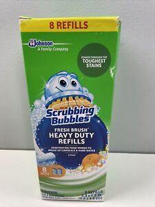 Scrubbing Bubbles Fresh Brush Citrus Scent Heavy Duty Refills 8 Count