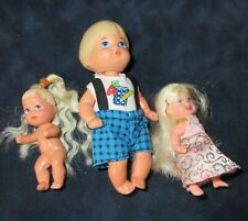 3 Vintage Mattel dolls Heart Family Tommy, Krissy 1976 1986 1998