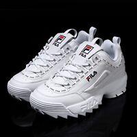 FILA Disruptor II 2 White Tapey Tape Shoes Unisex Size UK 3-9 FS1HTA3091X_WWT