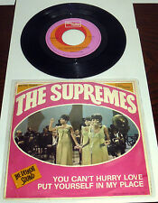 "THE SUPREMES PS ITALY 7"" YOU CAN'T HURRY LOVE TAMLA  MOTOWN 1966 PROMO"
