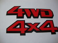 """4WD-4X4 Stickers/Decals x2 Vinyl 5""""x3"""" Off Road Jeep Farm Vehicles Landrover"""