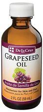 De La Cruz Grapeseed Oil 2 Oz. Aceite de Semilla de Uva.