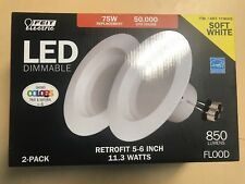 Feit Electric, LED 2 Pack Retrofit 5-6 Inch 11.3 Watts