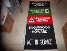 Chicago El Subway Sign A Englewood Jackson Park Howard Complete Vellum Roll Sign