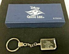 VINTAGE Disney CRUISE LINE CRYSTAL KEY CHAIN Laser Etched NEW IN BOX WALT WORLD