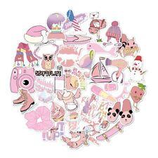 Vsco Girl Hydro-Flask 35Pcs Cute Pink Cartoon Stickers Waterproof Stickers Toy.