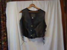 leather vest ladies size 34 laced sides