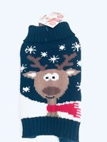 New with tag Pet Central size XS Dog Sweater with Reindeer Design
