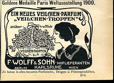 Neues Veilchen Parfüm -Goldene Medaille Weltausstelung 1900- Werbung von 1904--