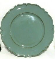 Savannah Turquoise Rustic Scalloped Edge Charger Plate Set of 4 New