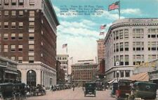 Postcard Texas St El Paso Texas Looking West Heart of Business Section