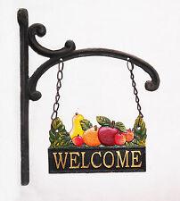 New Country Antique Colour Solid Cast Fruit Welcome Sign Café Shop Home Decor