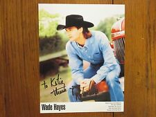 """WADE  HAYES  (""""Old  Enough  to  Know  Better"""")  Signed 7 1/2 x 9 1/2 Color Photo"""