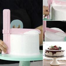 Pink Adjustable Fondant Cake Scraper Edges Smoother Piping Cream Spatula Tool