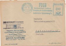 """DDR, Brief mit Freistempel Spremberg """"FDGB Bezirksvorstand Cottbus"""""""