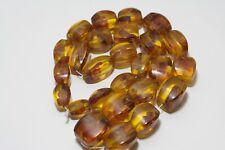 Vintage, antique beads amber in bakelite. Very massive. 212 grams. Made in USSR