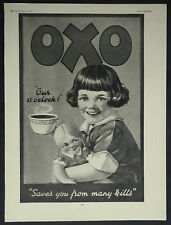Girl With Doll Oxo Drink 1929 Page Ad Advertisement 7121