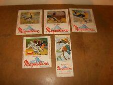 5 anciens buvards années 50 - Biscottes MAGDELEINE (Clerc + J. de la Fontinelle)