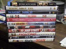 (12) Channing Tatum DVD Lot: (2) Magic Mike The Vow  Dear John Foxcatcher & MORE