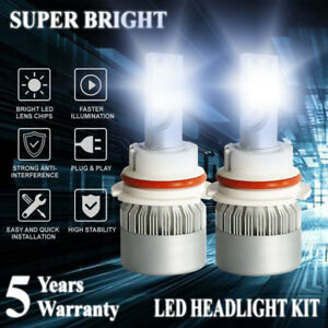 9007 LED Headlight Conversion Kit 1800W 270000LM 6000K White headLamp Hi-Lo Beam