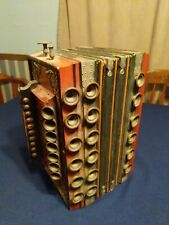 Vintage Accordion Squeeze Box wooden frame bellow style era not determined