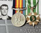 DOW NUI DAT AUSTRALIAN ARMY THOMPSON 5TH BN VIETNAM WAR MEDAL PAIR & RESEARCH