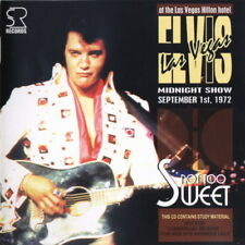 Elvis Not Too Sweet Live Las Vegas 1972 Brand New CD