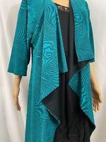Lularoe Women's Shirley Kimono Vibrant Blue with Black Lining size Small - S