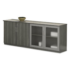 Mayline Medina Series Low Wall Cabinet with Doors 72w x 20d x 29 1/2h Gray Steel