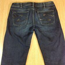SILVER Jeans SIENNA Skinny 31x31 Darker Blue Distressed  *XLNT EUC*  J011716
