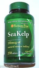 Sea Kelp Iodine Pills Tablets 250ct Thyroid Support Radiation Blocker Puritans