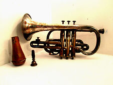 19th Century Distin Boosy & Co. Cornet Trumpet with Mute and extra mouthpiece