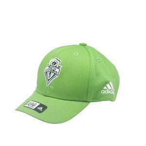 Seattle Sounders MLS Adidas Infant Toddler 2-4T Adjustable Hook & Loop Hat Cap