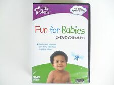"""USED/PREOWNED - LITTLE STEPS """"FUN FOR BABIES"""" 3-DVD COLLECTION 0-2 YEARS"""