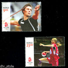 Norway 2008 Beijing Olympics  set of 2 mnh stamps