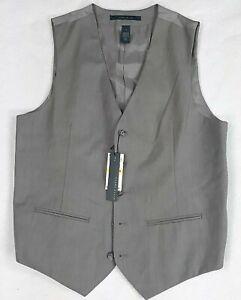 Perry Ellis Vest Medium Gray Men's 5 Button M Classic 2 Pocket