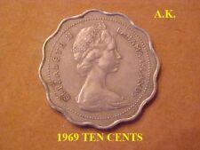 1969- BAHAMAS Ten (10) Cents Coin