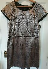 Oasis gold and black party dress size 16